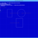 The initial set up of the demo scene - gridlines are 1m apart, user-controlled shape in top left