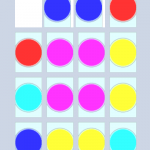 The board eventually fills up with secondary colours, bringing the gameplay to a natural conclusion.