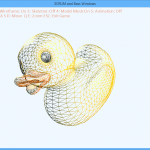 Wireframe of the duck model, an additional model used to test the importer.